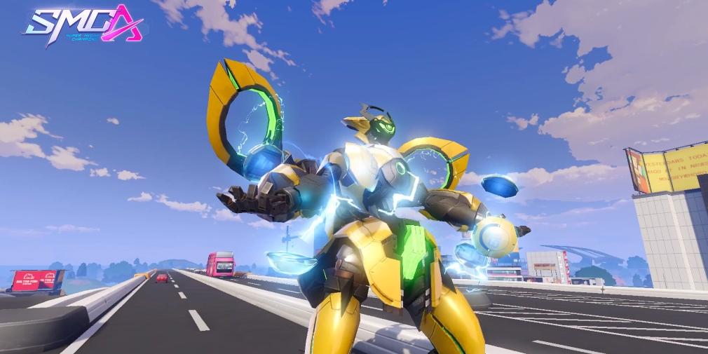 Super Mecha Champions' latest update introduces a lightning-based Mecha called Boltus