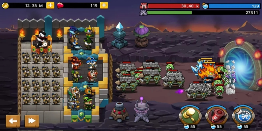 Castle Defence King is a strategy game from Mobirix for iOS and Android that's available to pre-register now