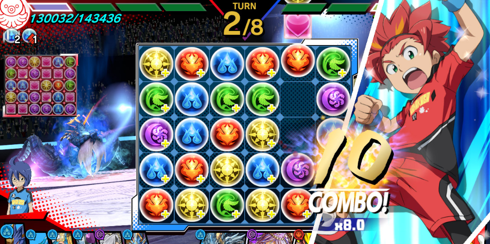 Puzzle & Dragons Gold is a flashy and polished take on mobile match-3 megahit Puzzle & Dragons
