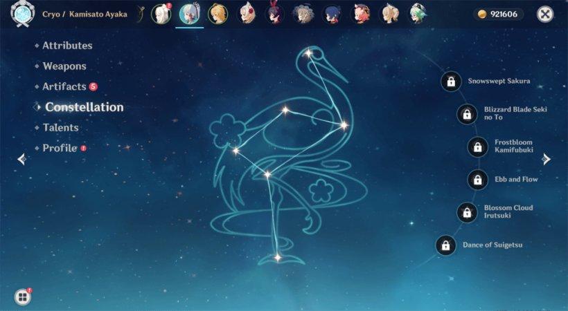 Ayaka guide Constellation