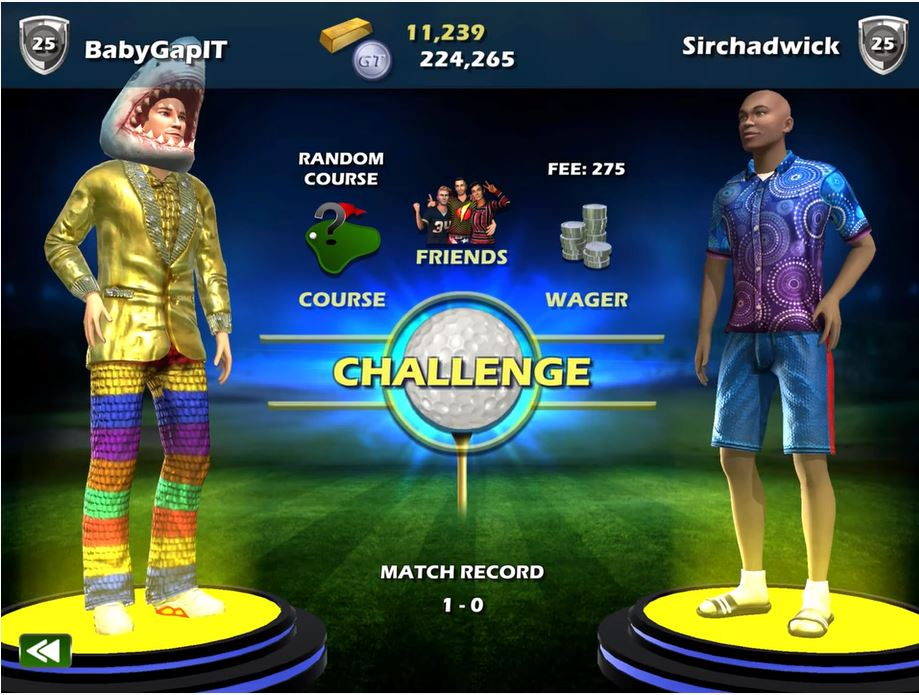 Golden Tee Mobile's latest update adds a Head to Head mode