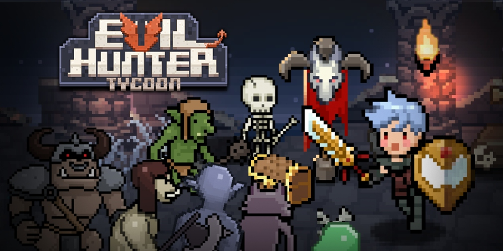 Evil Hunter Tycoon is a town management sim for iOS and Android where you'll assemble and upgrade a team of Hunters