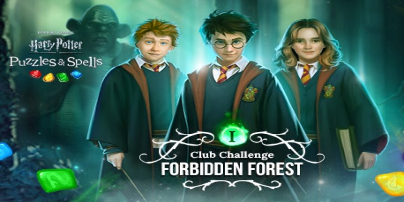 Expecto Patronum yourself through the Forbidden Forest in Harry Potter: Puzzles & Spells' first ever Club Challenge