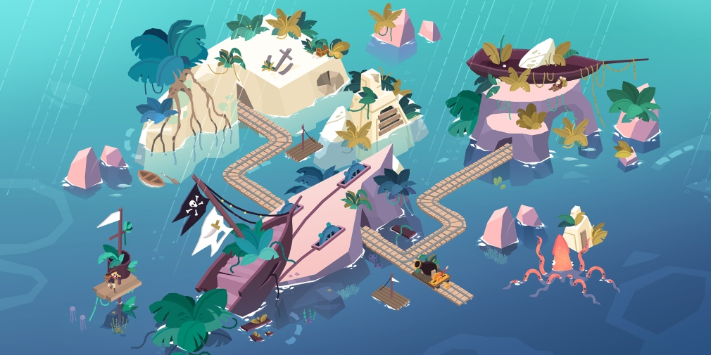 Down in Bermuda's latest update introduces Shipwreck Island, bringing more puzzling action to the Apple Arcade title