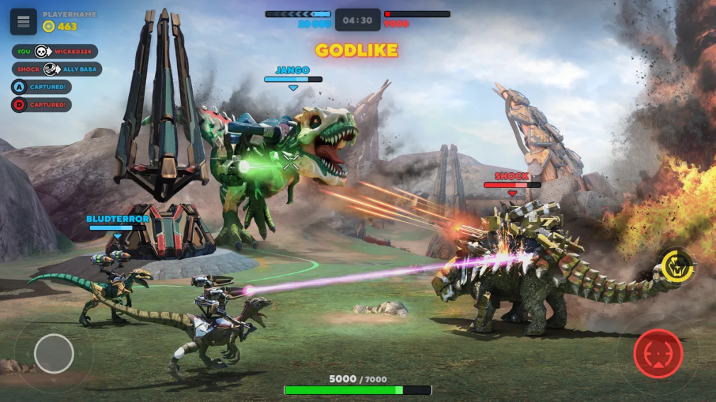 Dino Squad The Dinos With Guns Multiplayer Shooter Blasts Its Way Onto Ios And Android Today Articles Pocket Gamer