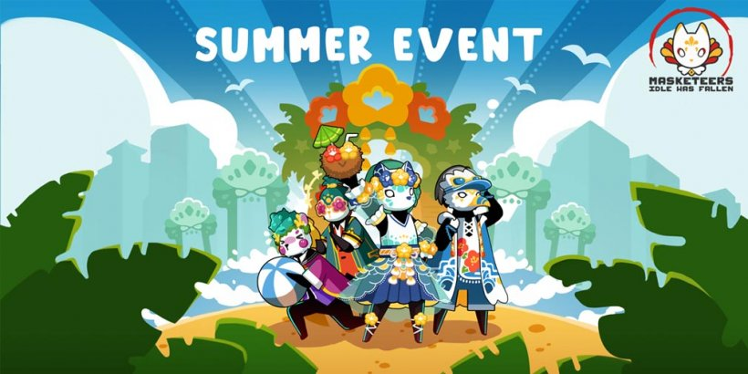 Masketeers: Idle Has Fallen celebrates the summer season with new Visages and Seashell collection event