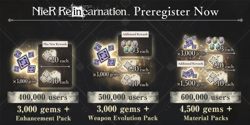 NieR Re[in]carnation will officially launch on July 28th, now open for pre-registration