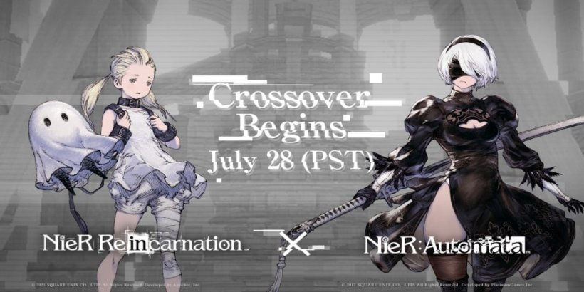 NieR Re[in]carnation will celebrate its launch for iOS and Android next month with a NieR Automata crossover
