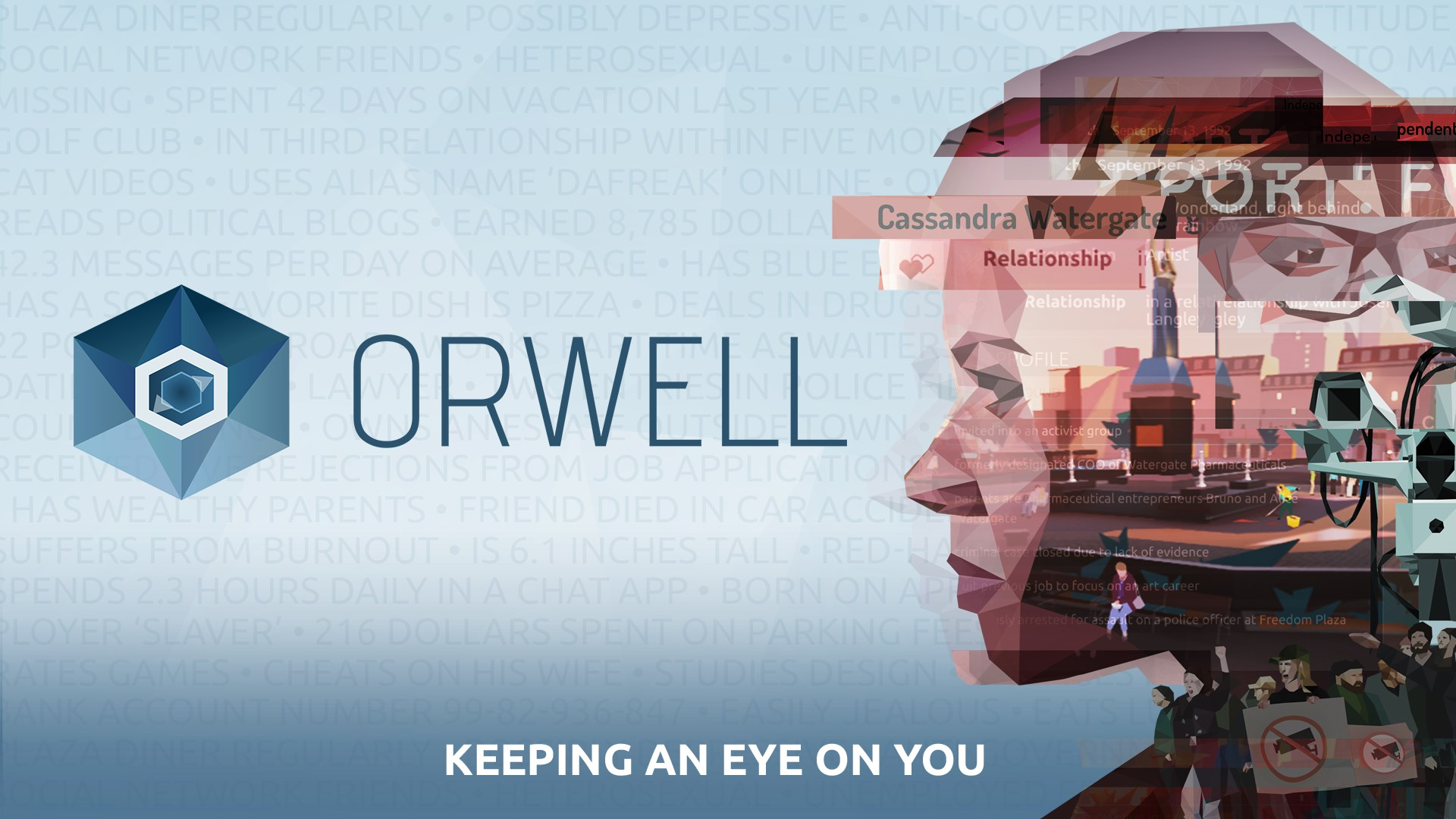 Vous êtes Big Brother dans Orwell: Keeping an Eye on You, disponible sur iOS