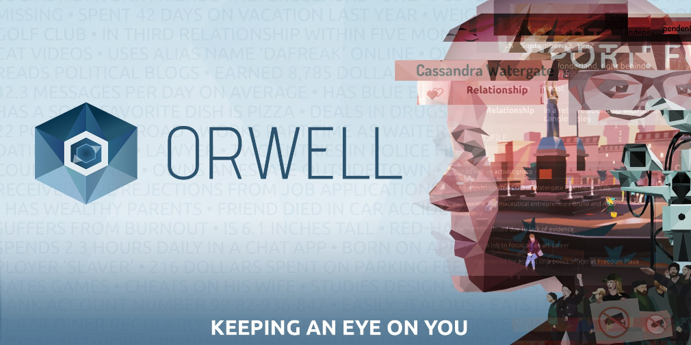 Become Big Brother in the critically acclaimed Orwell: Keeping an Eye on You, out now for iOS