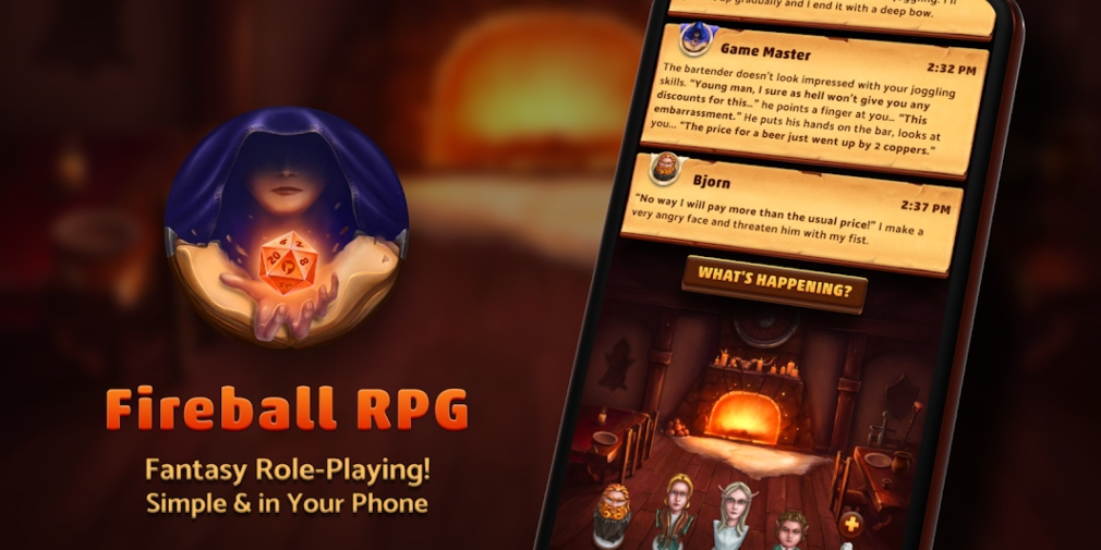 Fireball is an upcoming game for iOS and Android that allows players to create and partake in streamlined tabletop RPG campaigns