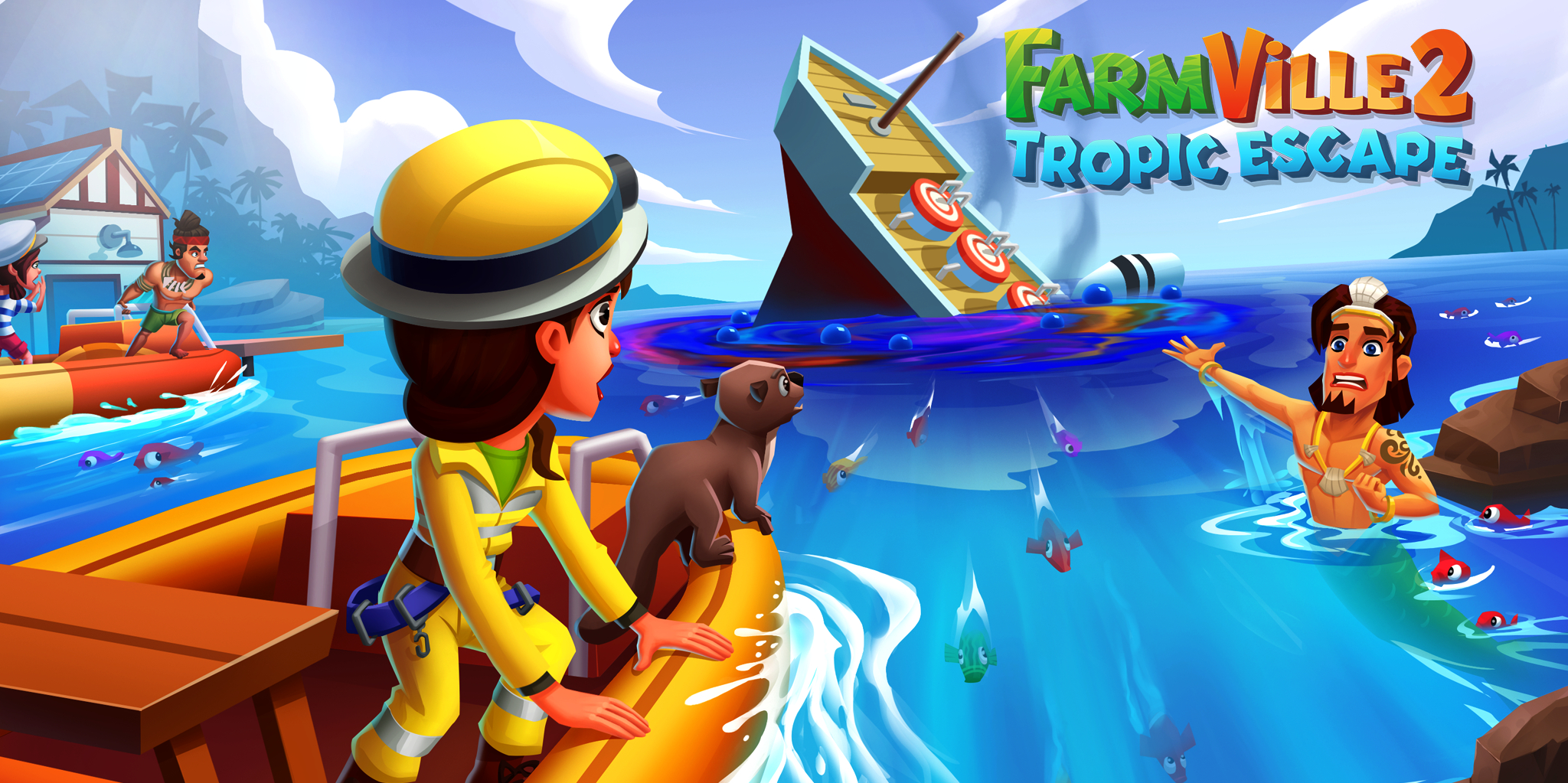 FarmVille 2: Tropic Escape's Earth Day event sees you helping a merman clean up a major oil spill