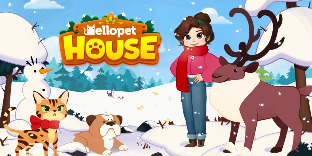 Hellopet House's festive update introduces three new pets and other accessories
