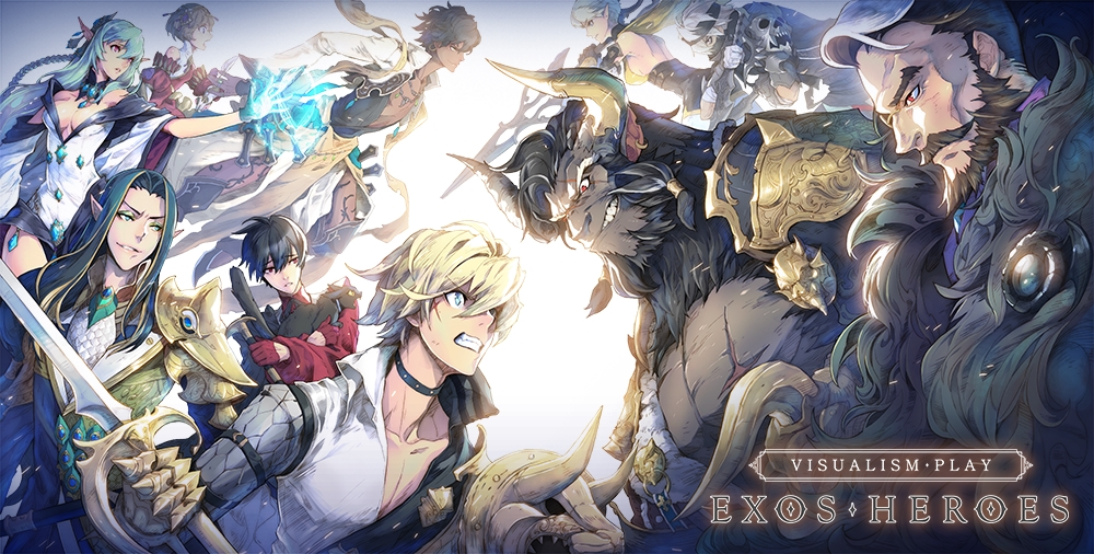 Exos Heroes, Oozoo and LINE Games' hero collecting RPG, is available now for iOS and Android