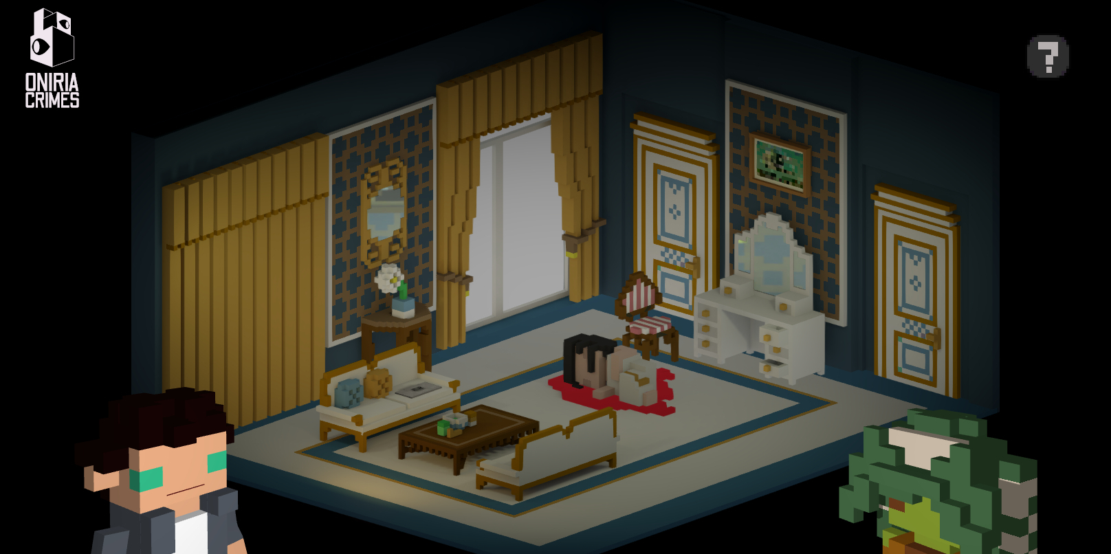 Oniria Crimes is a detective adventure game set in a surreal dream realm