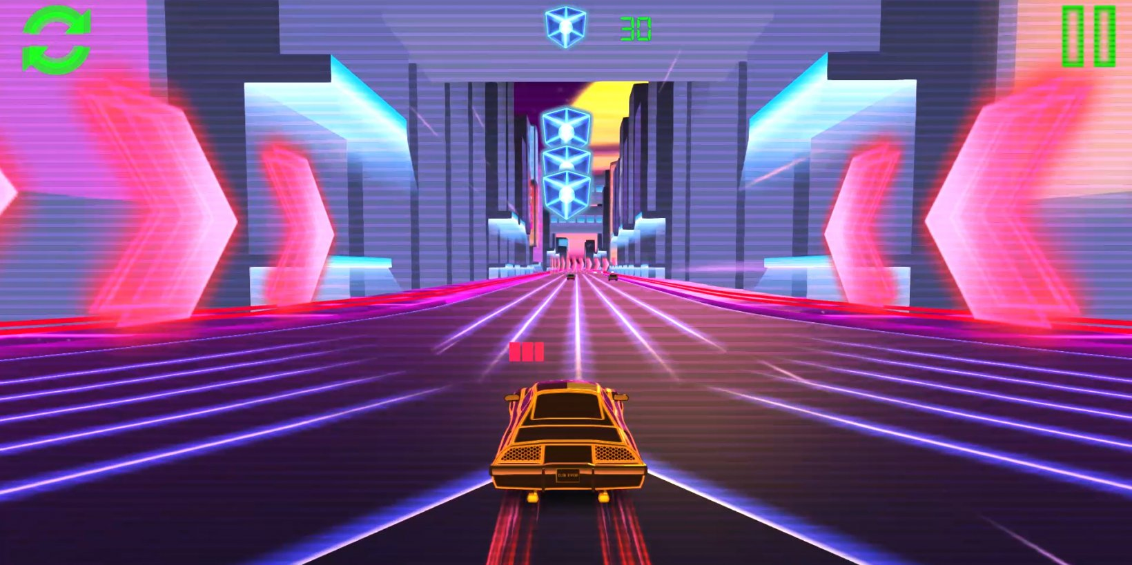 Retro Drive is a neon-soaked arcade racer with a killer synthwave soundtrack