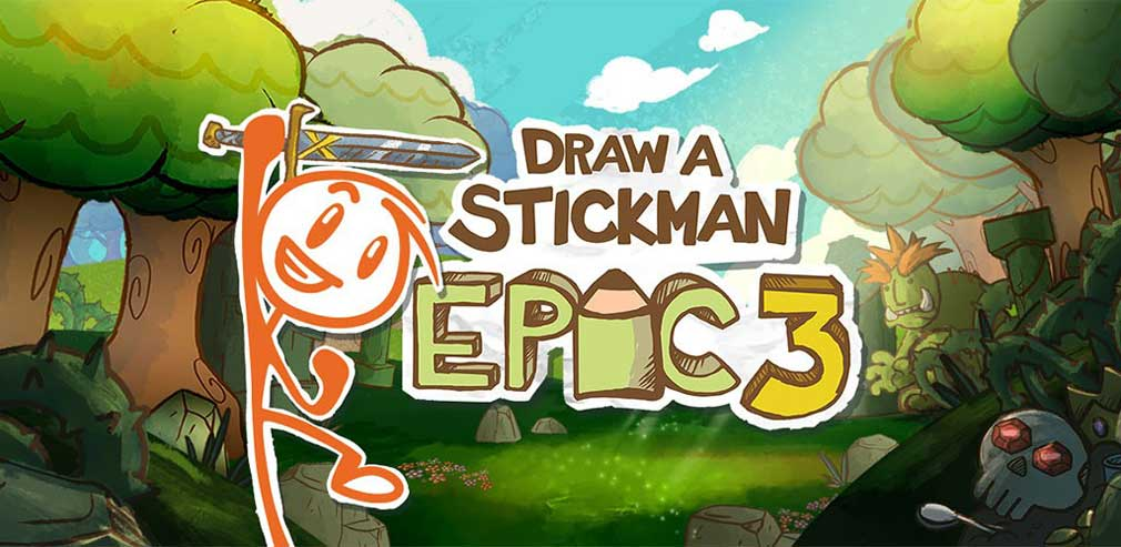 3 great reasons to play Draw a Stickman: EPIC 3, the fun-filled adventure-puzzler from Hitcents