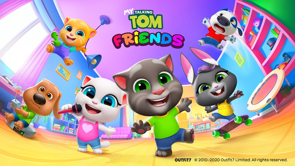 My Talking Tom Friends, available now on iOS and Android