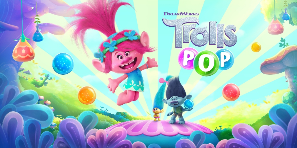 DreamWorks Trolls Pop is a bubble shooter for iOS and Android that's based on the movie franchise