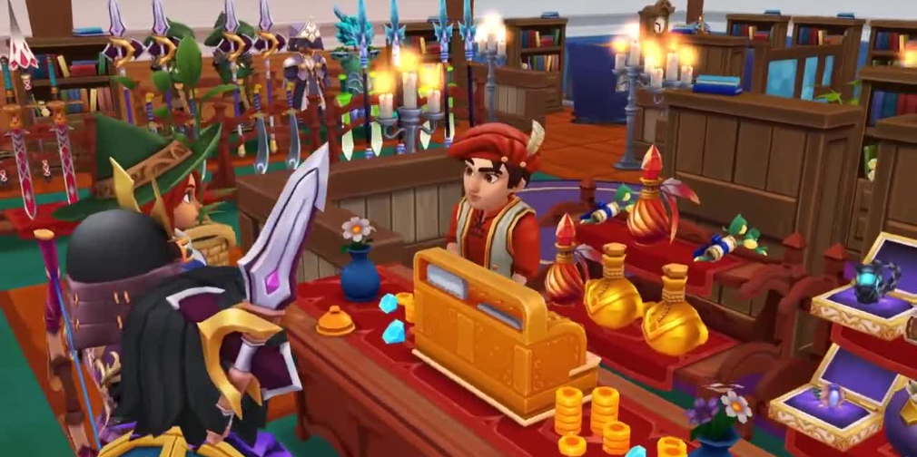 Shop Titans, Kabam's fantastical store management RPG, celebrates its first anniversary by adding cuddly co-workers
