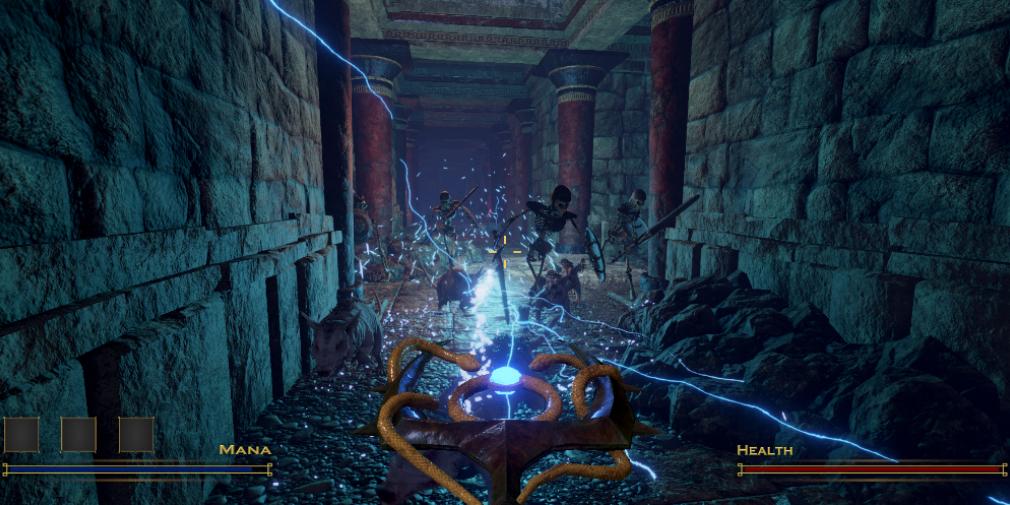 Undaunted is a demon-blasting shooter for iOS inspired by Hexen and Doom