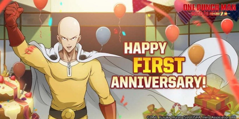 One-Punch Man: Road to Hero 2.0 celebrates 1st anniversary with special redeem code and two new characters