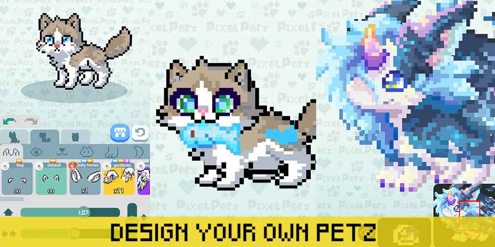 Pixel Petz is a creative social game where'll you'll design, trade, and showcase your unique pets