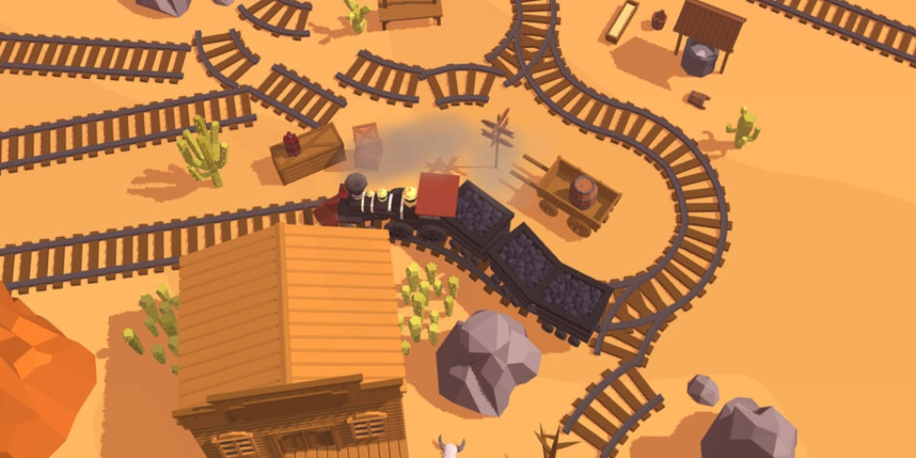 Railway Canyon is the latest puzzler from Tepes Ovidiu for iOS that sees players building a track for a steam train to follow