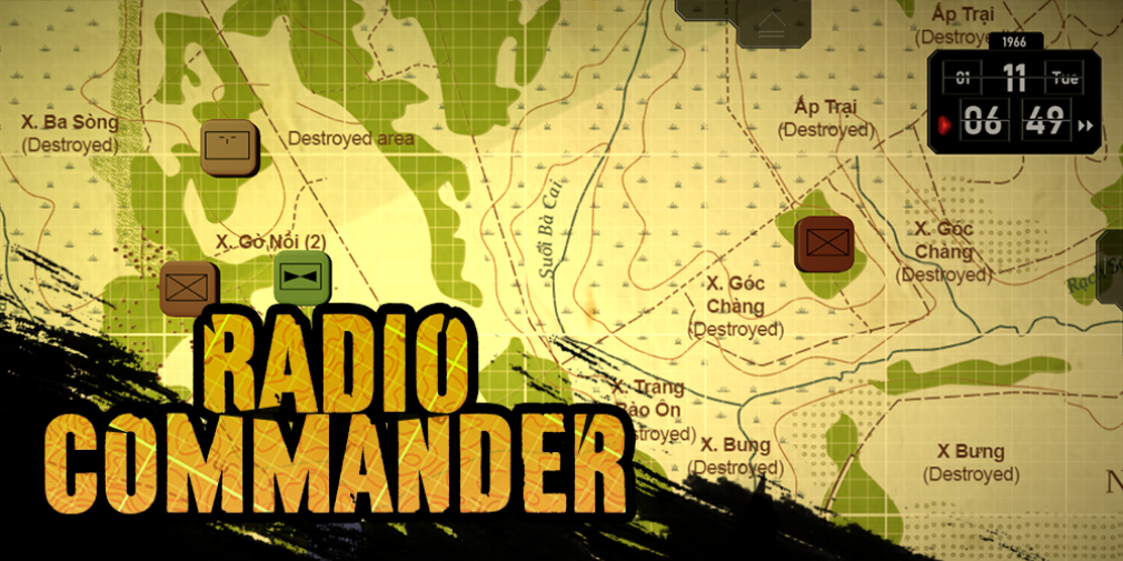 Radio Commander is an innovative and intense strategy game set during the Vietnam War