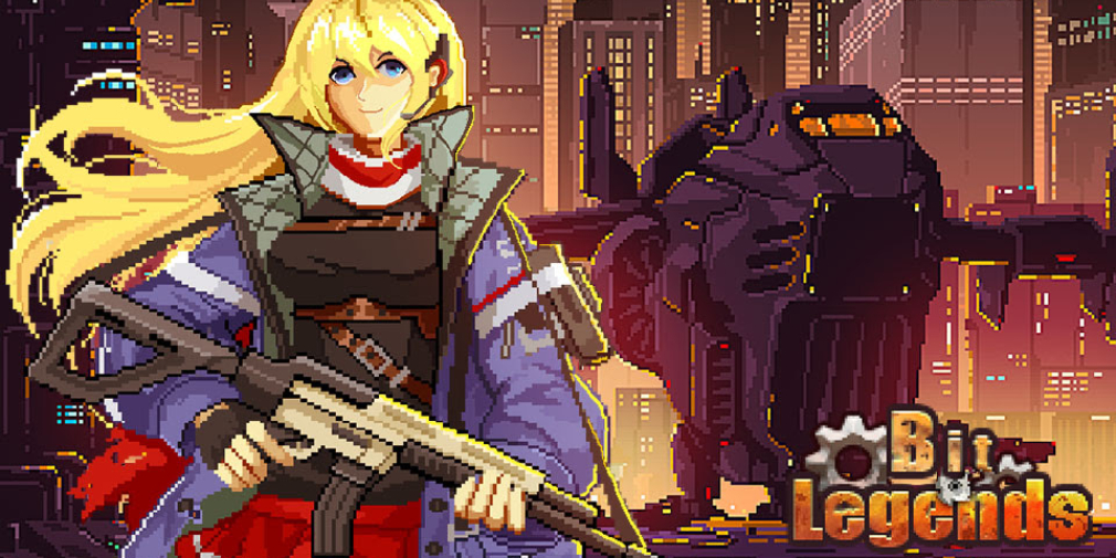 Bit Legends is a stylish MMORPG set in a pixel art wasteland