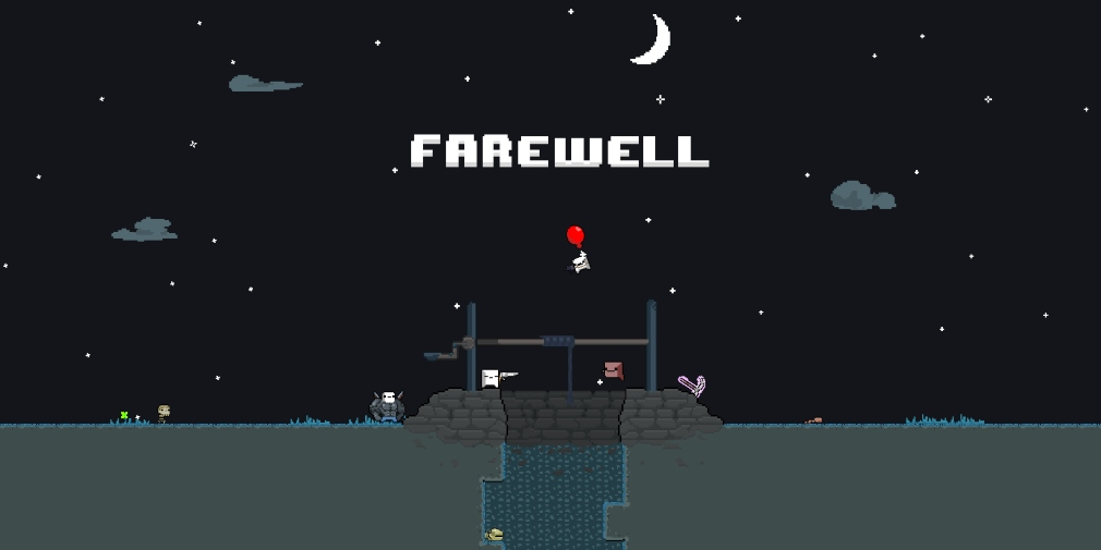 Farewell is a vertically scrolling, roguelike shooter inspired by Downwell that's available now for Android