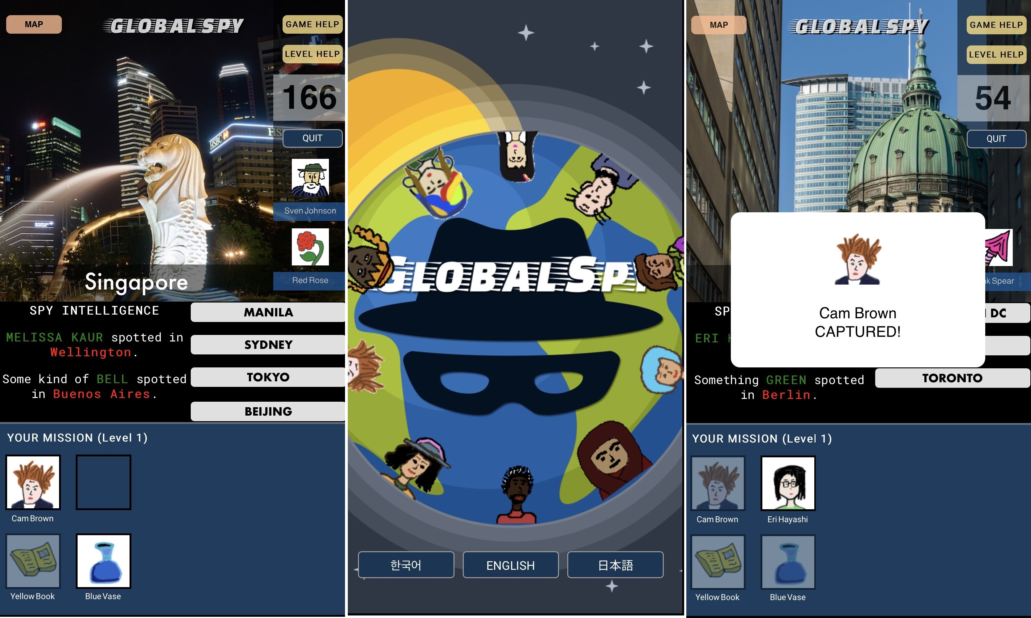 Engage in international espionage with Global Spy, available now for iOS and Android