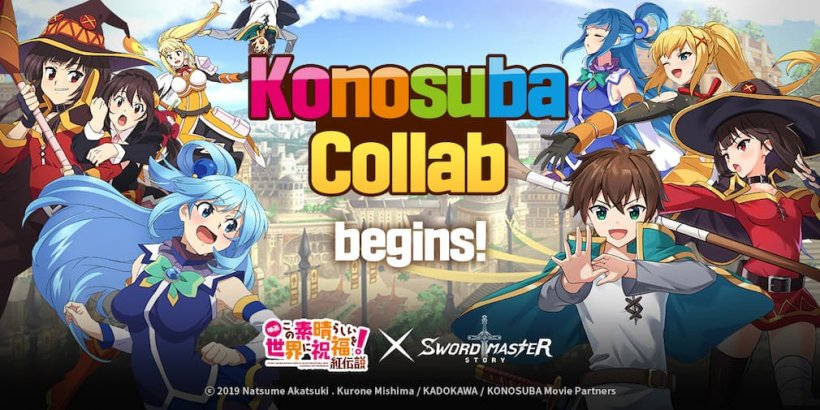 SwordMaster Story and popular Japanese anime, Konosuba, have announced crossover event