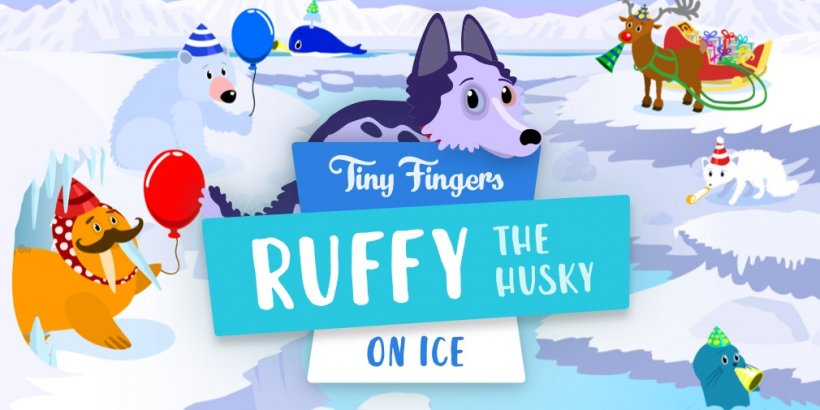 Ruffy the Husky: On Ice is a cool educational app for youngsters, out now on iOS
