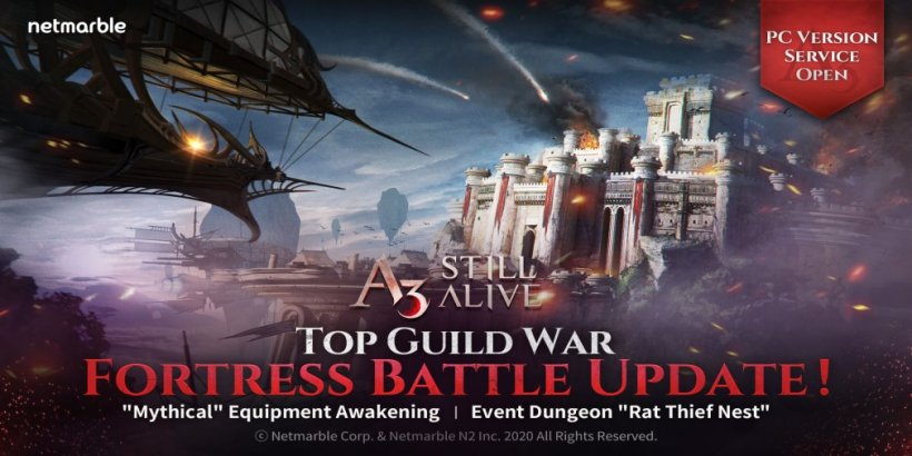 A3: STILL ALIVE introduces a new Fortress Battle mode and other rewarding events!