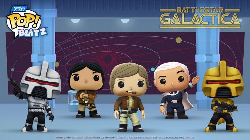 Expand your Funko Pop! Blitz fleet with Battlestar Galactica in-game exclusive figures