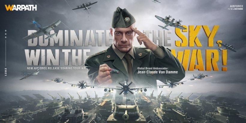 Warpath unveils Jean-Claude Van Damme as the game's global ambassador as Air Force update arrives