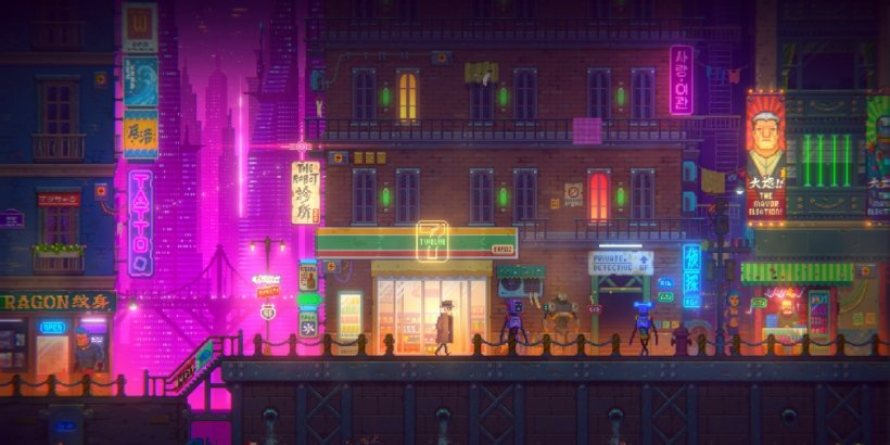 Tales of the Neon Sea is an upcoming cyberpunk-themed adventure game that's heading for iOS