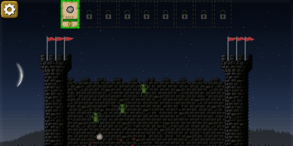 Goblin Raiders is a physics-based action game where players have to defend their castle walls