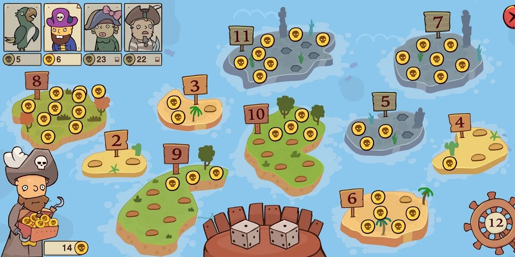 Pirates Treasure Hunt is an educational digital board game out now for mobile