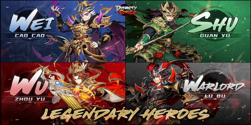 Dynasty Scrolls' latest update adds four new Legendary Heroes