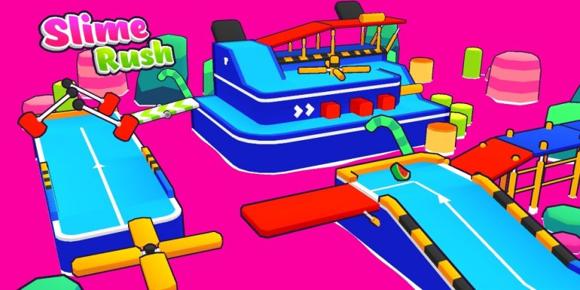 Slime Rush is a cutesy obstacle course platformer that's heading for mobile soon