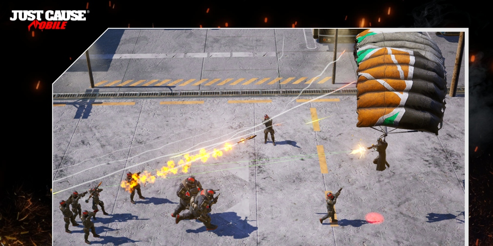 Just Cause: Mobile is an upcoming top-down shooter from Square Enix that's heading for iOS and Android next year