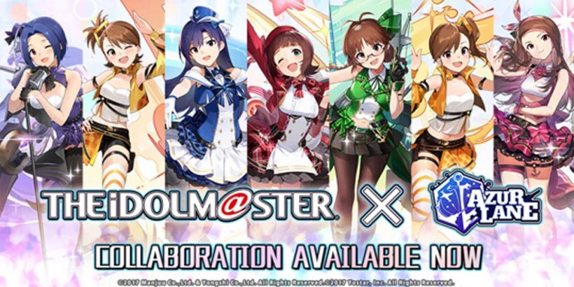 Azur Lane turns up the beat with idols from THE IDOLM@STER in latest collab