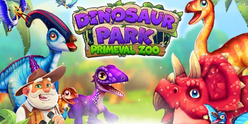 Dinosaur Park: Primeval Zoo, the dino park tycoon game, is out now on iOS following success on Android