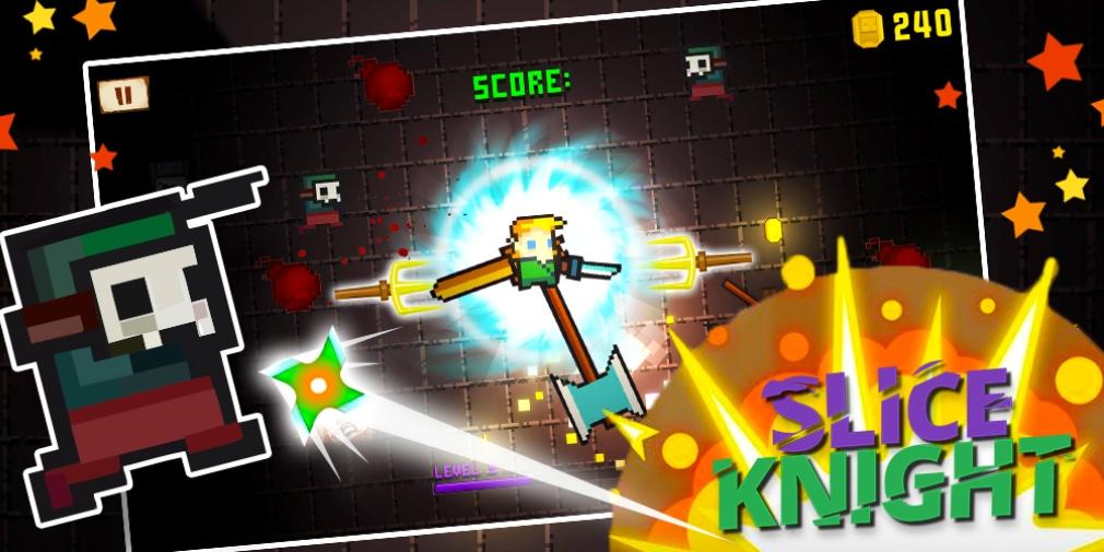 Slice Knight — это казуальная игра в жанре экшн об убийстве врагов постоянно вращающимся оружием, доступная теперь для Android.