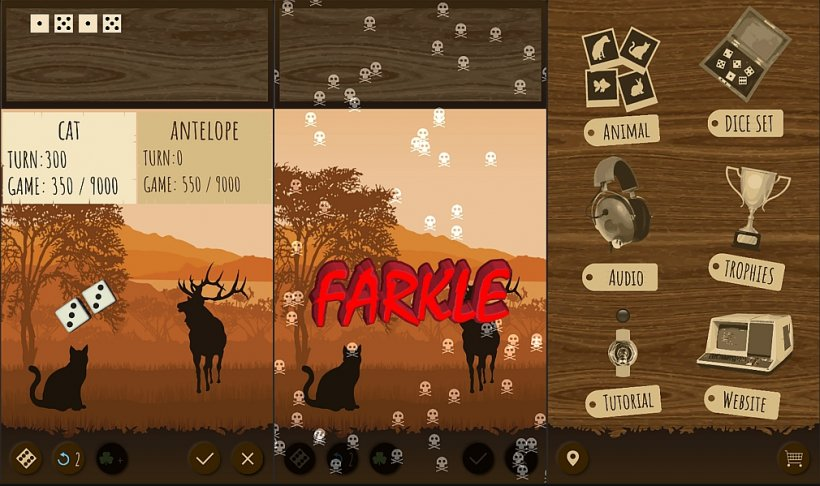 Farkle Safari lets you play the classic dice game and save wildlife at the same time