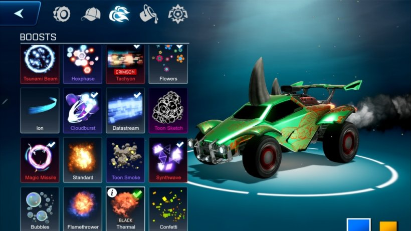 Rocket League Sideswipe customisation