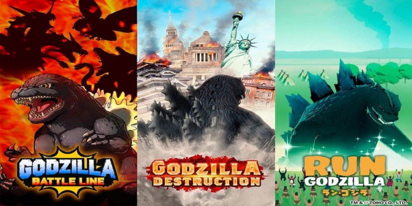 TOHO Games announces three brand new Godzilla games for Android and iOS