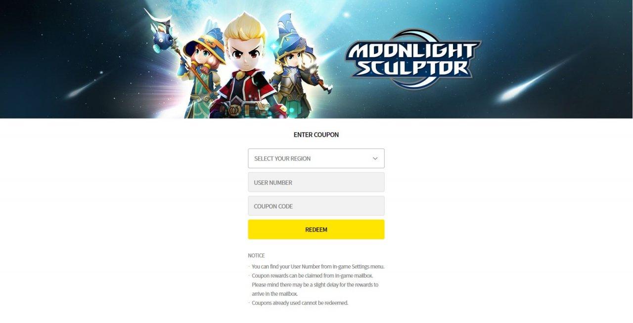 Moonlight Sculptor coupon codes